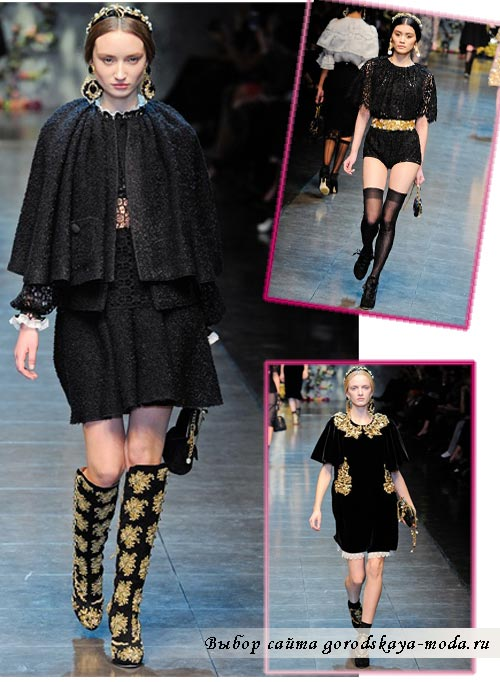 зима 2013 одежда Dolce Gabbana
