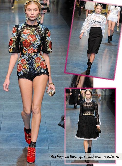 Коллекция Dolce & Gabbana осень-зима 2012-2013 фото