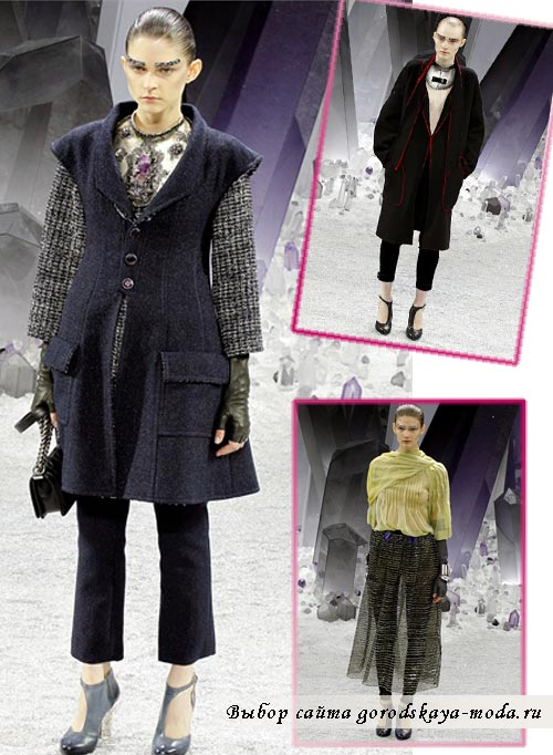 фотографии моделей одежды новой коллекции Chanel осень зима