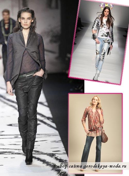 Миниатюра к статье Модные джинсы осень-зима 2013