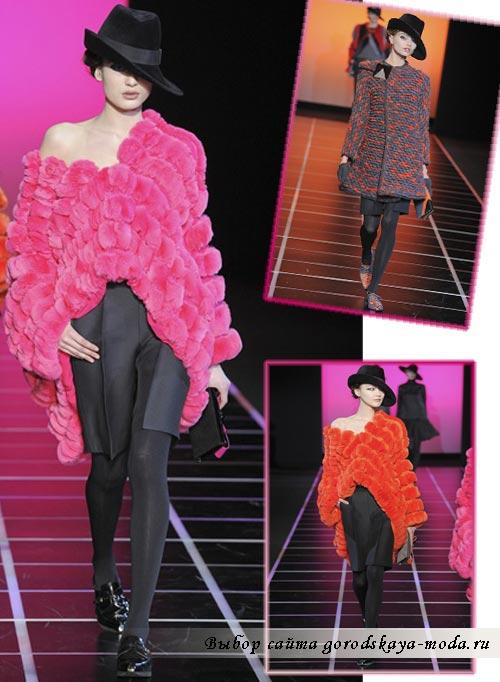 модный показ Armani осень-зима 2012-2013 фото