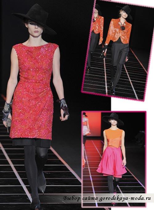 фото с модного показа Armani осень-зима