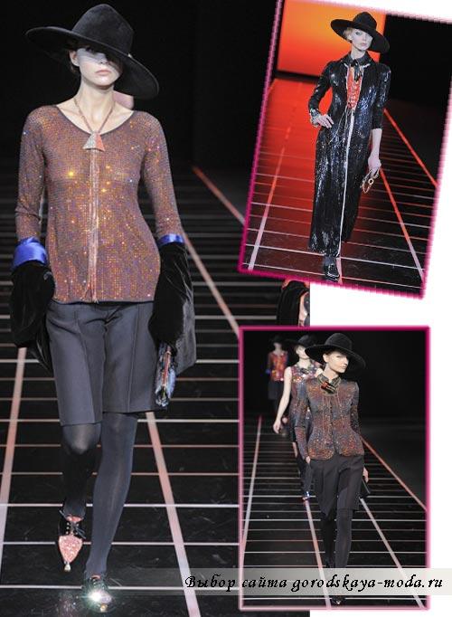 модный показ Джорджио Армани фото