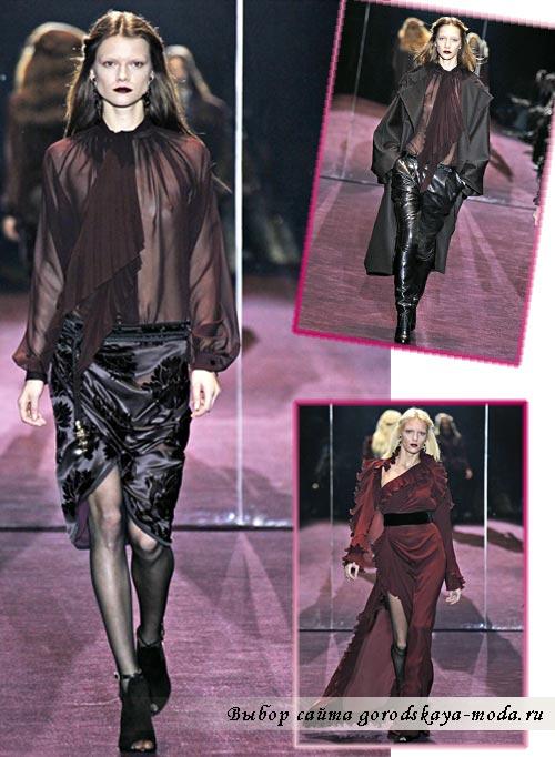 фото моделей из коллекции Gucci осень зима 2012 2013