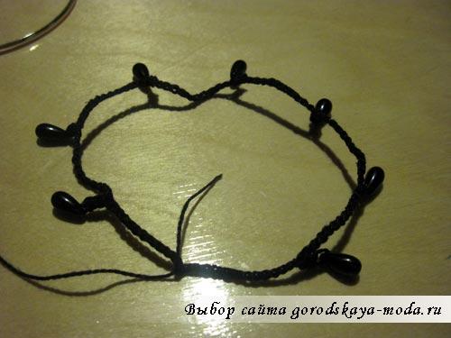 браслет вязанный крючком
