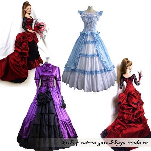 платье в викторианском стиле фото