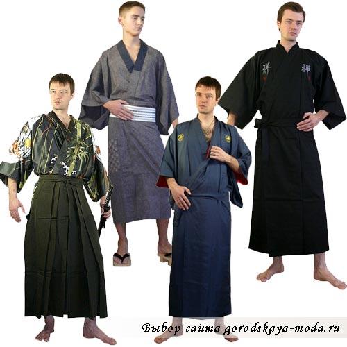 мужское кимоно японское фото