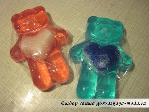 мыло медвежата с сердечками мастер класс