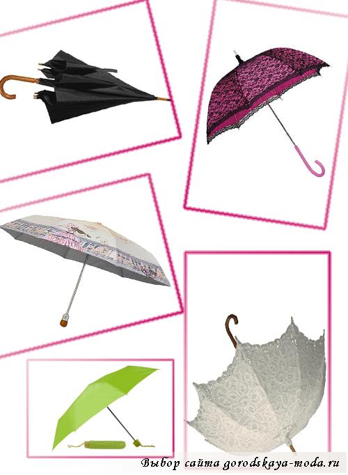 виды зонтов фото
