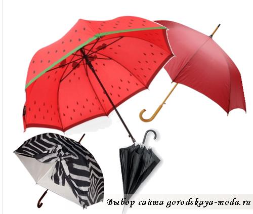 Миниатюра к статье Выбираем модный зонт