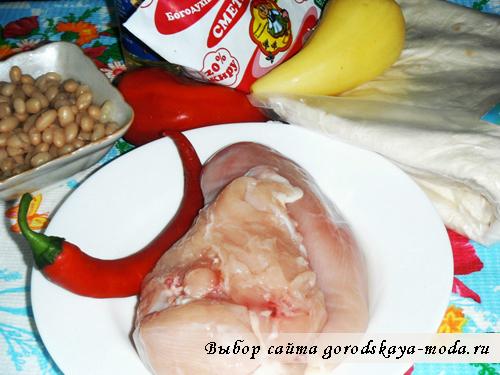 Миниатюра к статье Фахитос с курицей. Пошаговый фото рецепт
