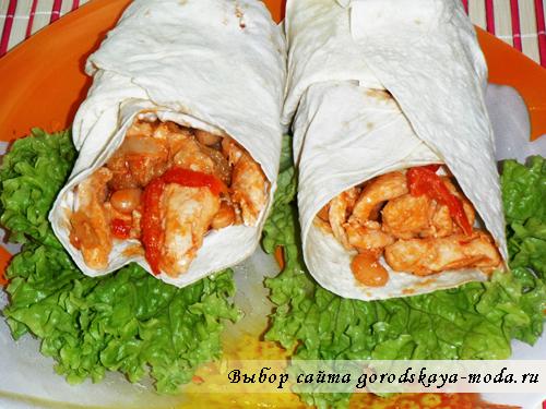 Фахитос с курицей салат рецепт с