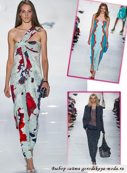 фото с модного показа Diane von Furstenberg весна-лето 2013