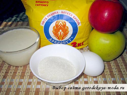 ингредиенты для блинчиков на кефире