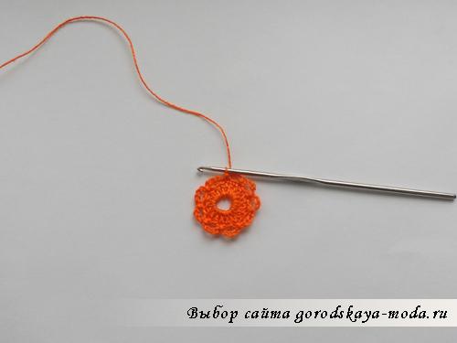 вязаный цветок фото