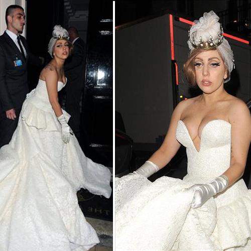 lady gaga в свадебном платье фото