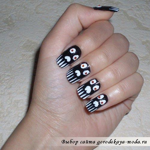 Дизайн ногтей на хэллоуин готов