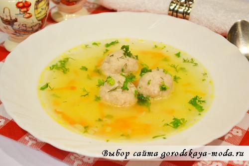 фото суп с фрикадельками