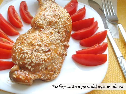 готовое блюдо окорочка в маринаде