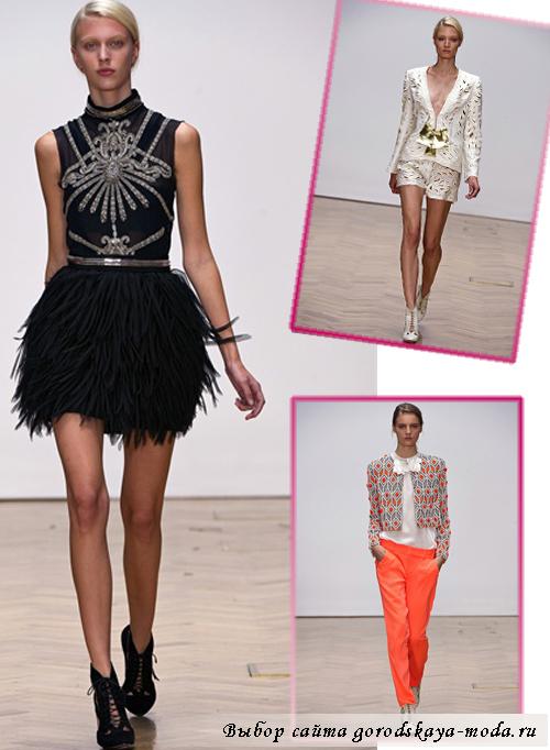 модные показы в Лондоне весна 2013