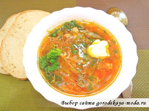 украинский борщ готовое блюдо