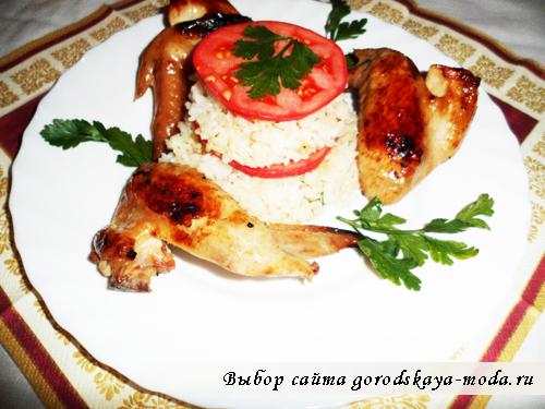 крылышки в соевом соусе готовое блюдо