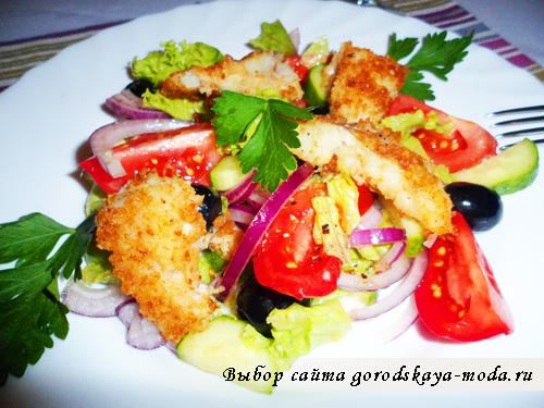 готовое блюдо рыбный салат