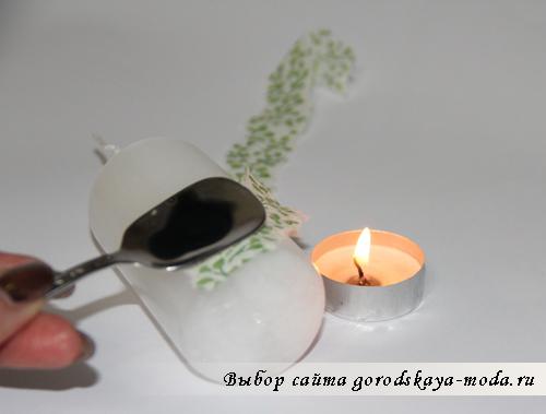 декупаж свечей фото