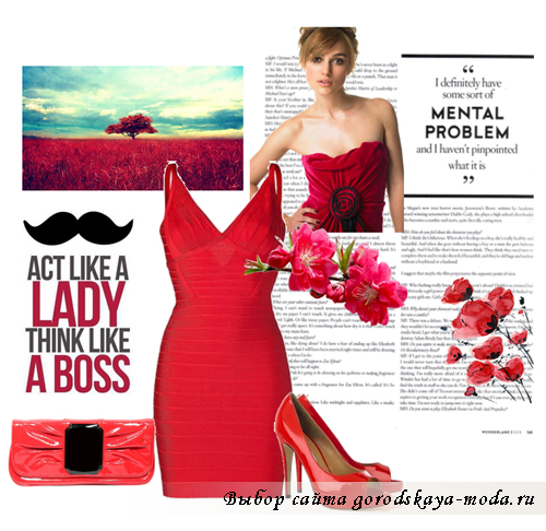 с чем носить красное платье фото