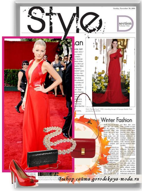 вечернее красное платье фото