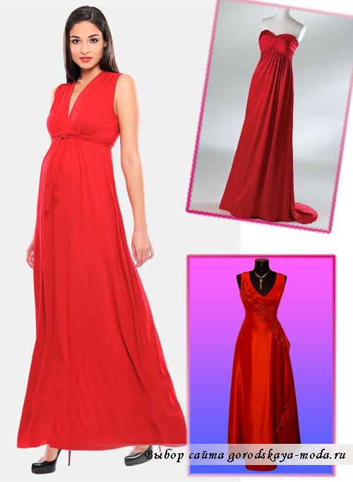 красное платье в греческом стиле фото