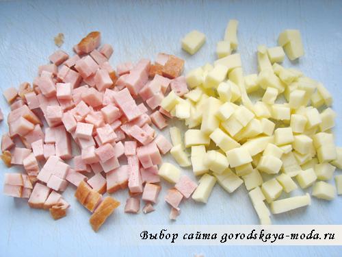 ветчина и сыр сулугуни