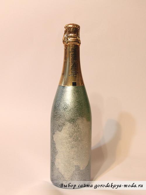 порядок декупажа шампанского фото