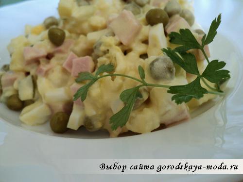 Миниатюра к статье Салат Оливье классический рецепт с колбасой