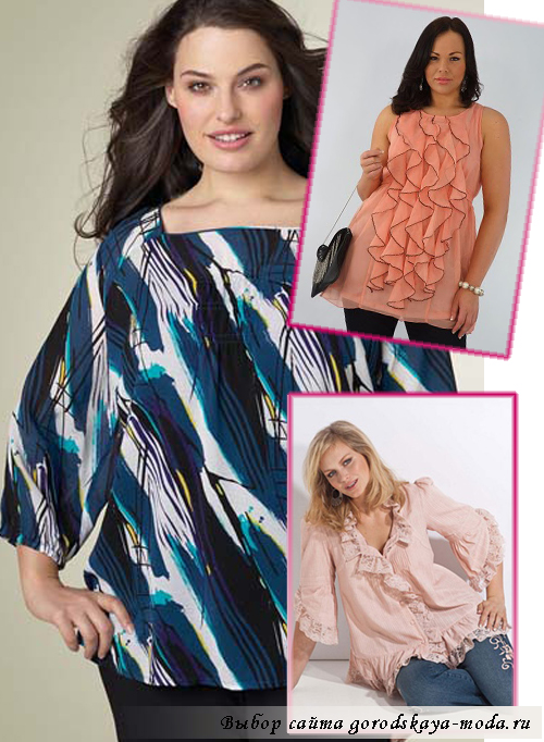 Миниатюра к статье Блузки для полных, особенности выбора блузок для полных женщин
