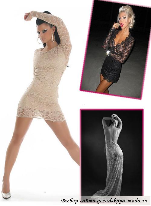 модели гипюровых платьев