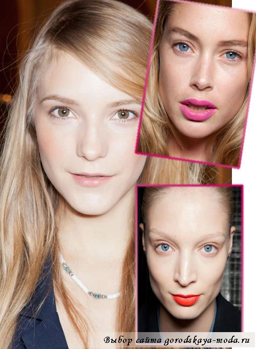модный макияж сезона весна-лето 2013