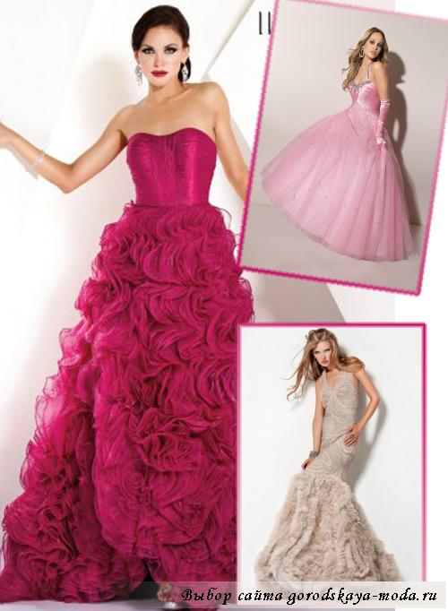 бальные платья на выпускной 2013