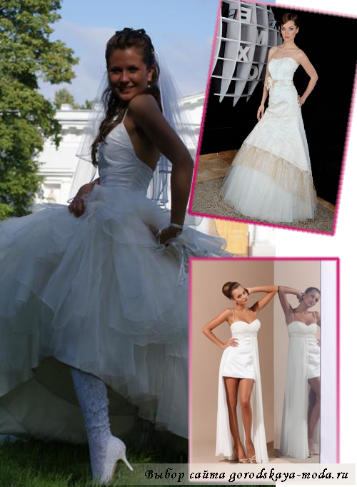 свадебное платье-трансформер фасоны