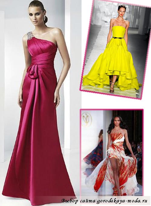 яркие платья на выпускной