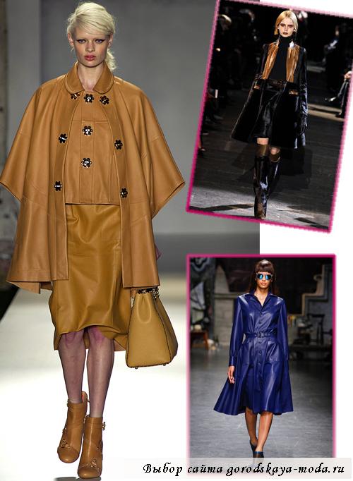 кожаные пальто весна 2013