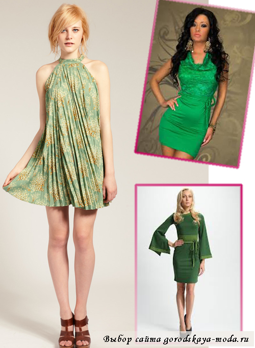 Аксессуары к зелёному платью