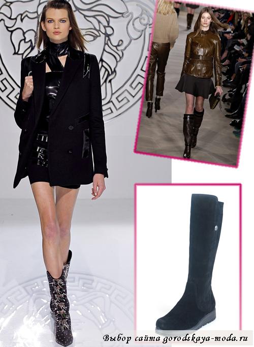 модные сапоги зима 2013-2014