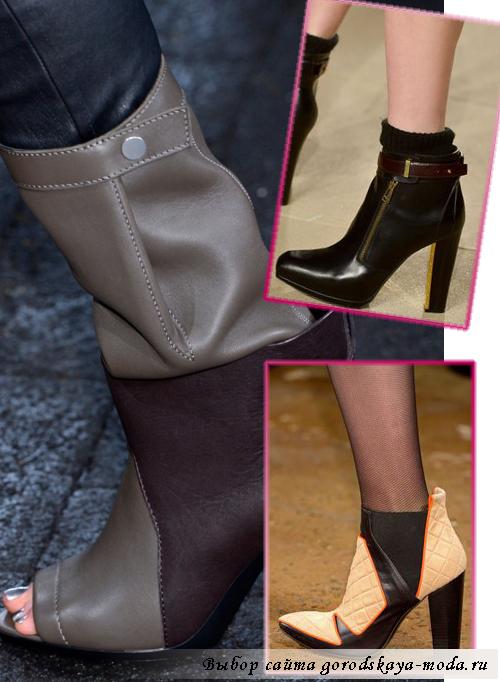 модные ботинки и ботильоны осень-зима 2013-2014