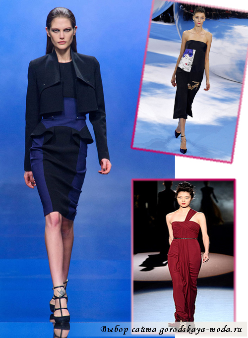 тенденции платьев осень-зима 2013-2014