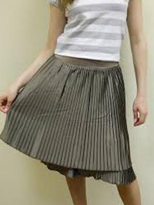 юбка гофре с чем носить