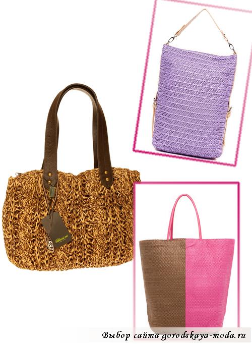 женские плетёные сумки