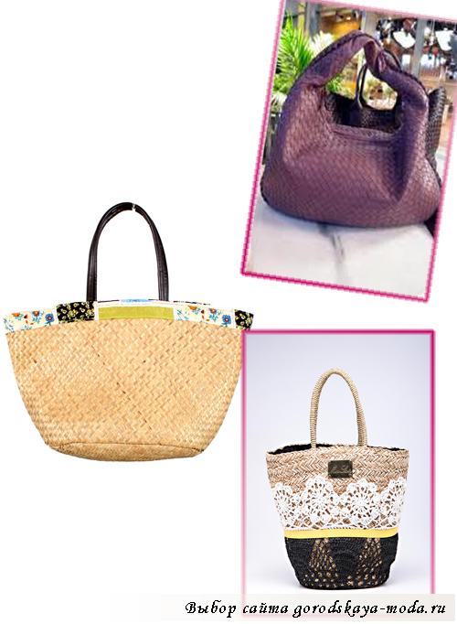 летние плетёные сумки