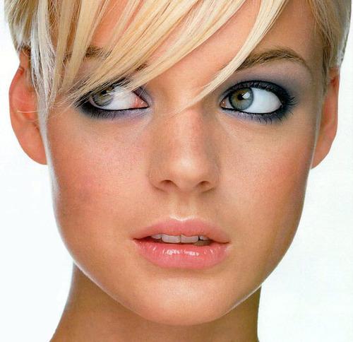 Оттенки макияжа для голубых глаз