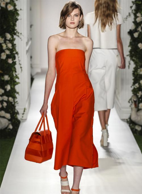 Миниатюра к статье Красные и коралловые платья весна-лето 2014. Самые красивые модели с показов в Нью-Йорке